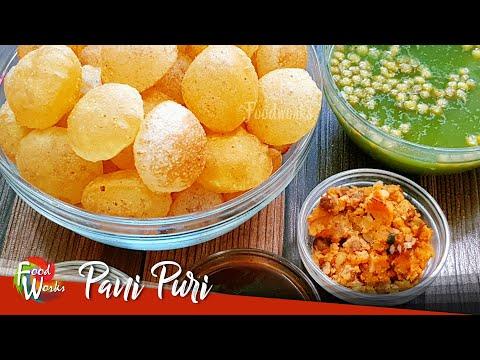 Pani Puri Recipe | How To Make Pani Puri Chaat | Complete Pani Puri Making | Street Food | Foodworks