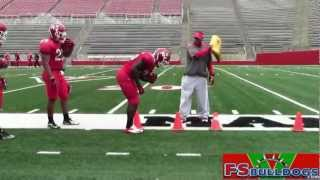 Fresno State running back drills from 3/6/13