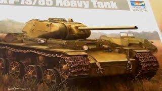 КВ-1С Trumpeter - сборка стендовой модели часть 1 - стендовый моделизм - танк своими руками(Привет! Сегодня мы начинаем сборку КВ-1С. В этом видео Вы увидите как мы будем собирать так называемую ванну..., 2014-10-17T17:32:45.000Z)