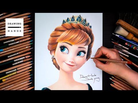Drawing Frozen2 - Queen Anna [Drawing Hands]