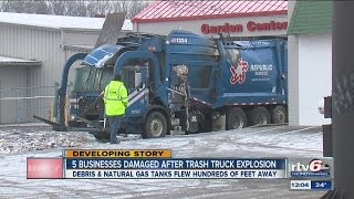 IFD responds after trash truck's natural gas tanks explode