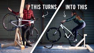 $15 DIY Manual Machine TRANSFORMS into Bike Repair Stand // MTB and BMX