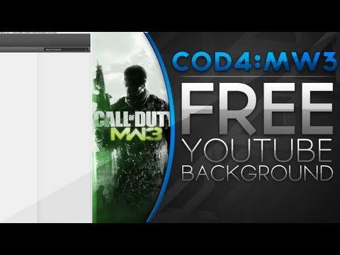 Free YouTube Backgrounds - MW3 New YouTube Background || Pro || Free (JPEG+PSD)