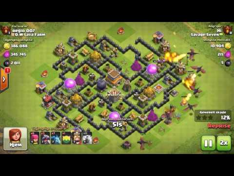 Savage Seven Town Hall 7 push Attacks