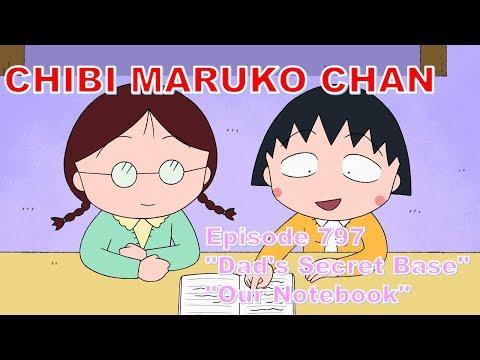 "Chibi Maruko Chan Eng Dub #797 ""Dad's Secret Base"" / ""Our Notebook"""