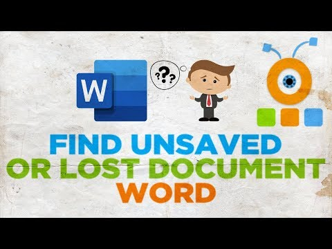 How To Find Unsaved Or Lost Word Documents For Mac | Microsoft Office For MacOS