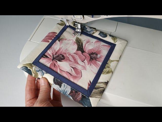 Оригинальная и эффектная техника шитья: ПРИХВАТКА. Как сшить прихватку.  Советы и хитрости шитья. - YouTube