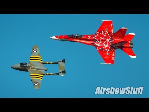 RCAF Heritage Flight and CF-18 Hornet Demo - Airshow London 2017