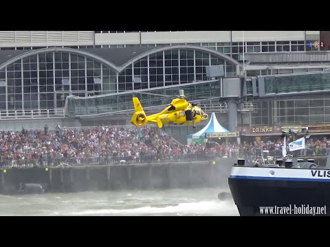 World Harbour Days Rotterdam 2016, rescue operation Eurocopter AS365 Dauphin