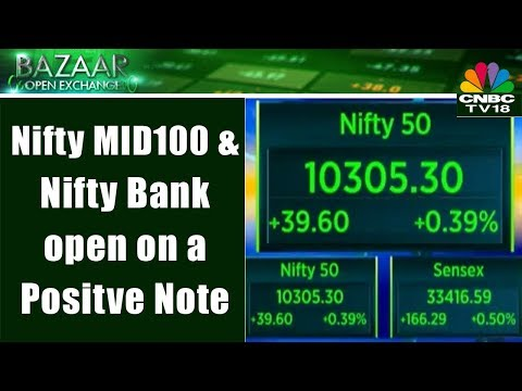 Nifty 50, Sensex, Nifty MID100 & Nifty Bank open on a Positve Note | Bazaar Open Exchange
