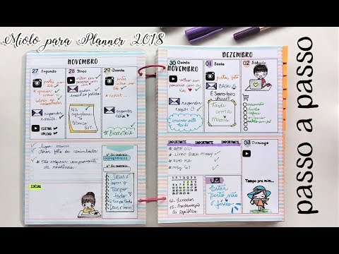 Meu Planner 2018 passo a passo – Scrapbook by Tamy