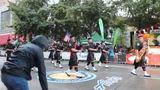 Seattle Firefighters Pipes & Drums @Seafair Torchlight Parade 2015