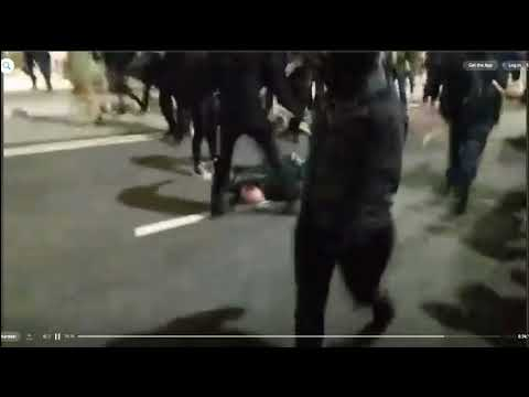 Protesters chase and beat people at UC Berkeley
