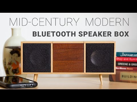 Making A Mid-Century Modern Bluetooth Speaker Box