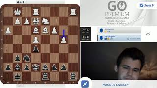 Brutal precision: Magnus Carlsen vs. chess24 user tommyman