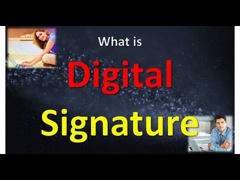 What is Digital Signatures in HINDI