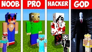 Minecraft Battle: NOOB vs PRO vs HACKER vs GOD - SCARY HORROR in Minecraft Animation