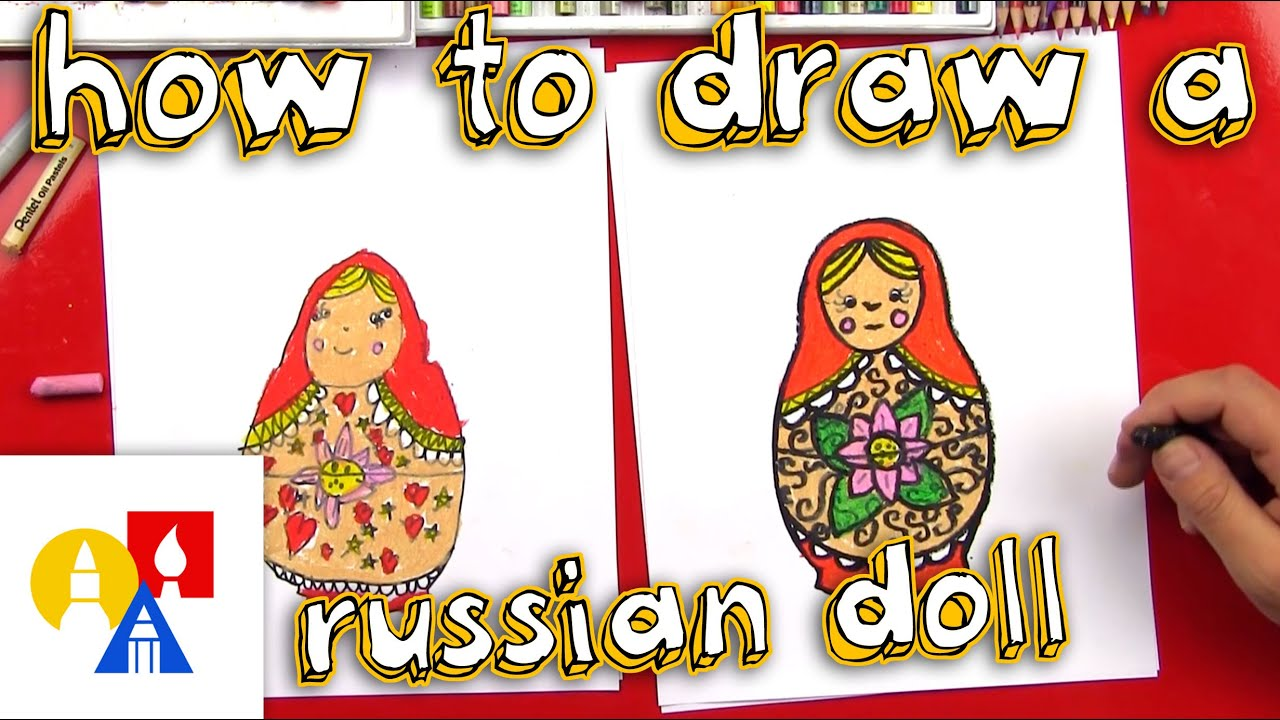 How to draw a nesting doll