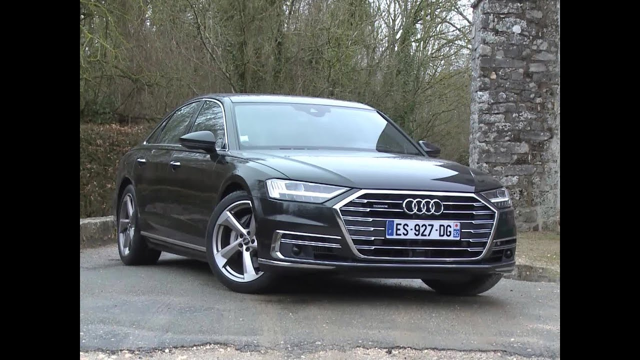 essai audi a8 50 tdi 286 quattro tiptronic 8 avus extended 2018 youtube. Black Bedroom Furniture Sets. Home Design Ideas