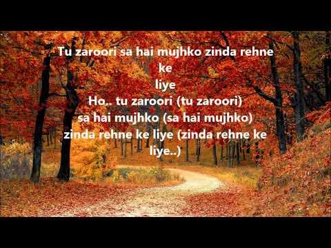 karaoke of tu zaroori with lyrics