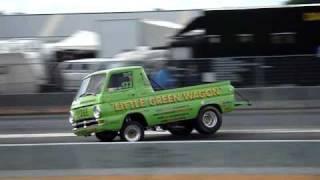 Little green Wagon crash at Dragrace Drachten 20/6/09