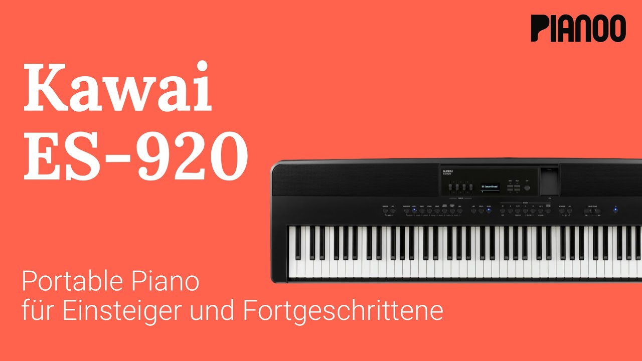Kawai Es 920 Portable Piano Im Test Youtube