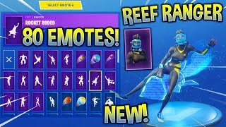*NEW* REEF RANGER SKIN With 80 FORTNITE DANCE EMOTES! (New Skin)