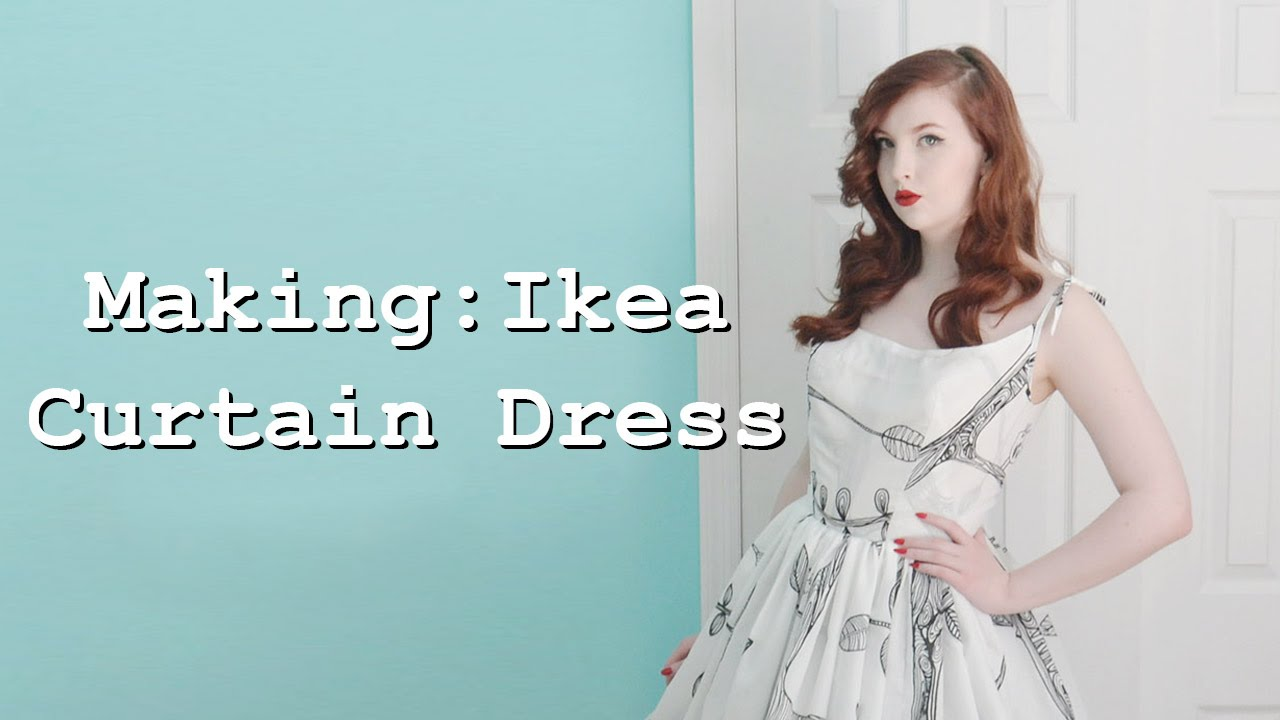 Making A Dress From Curtains Part One Youtube