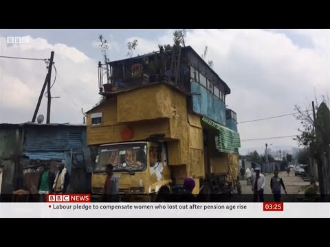 Man with 8 room house on his truck (Ethiopia) - BBC News - 25th November 2019