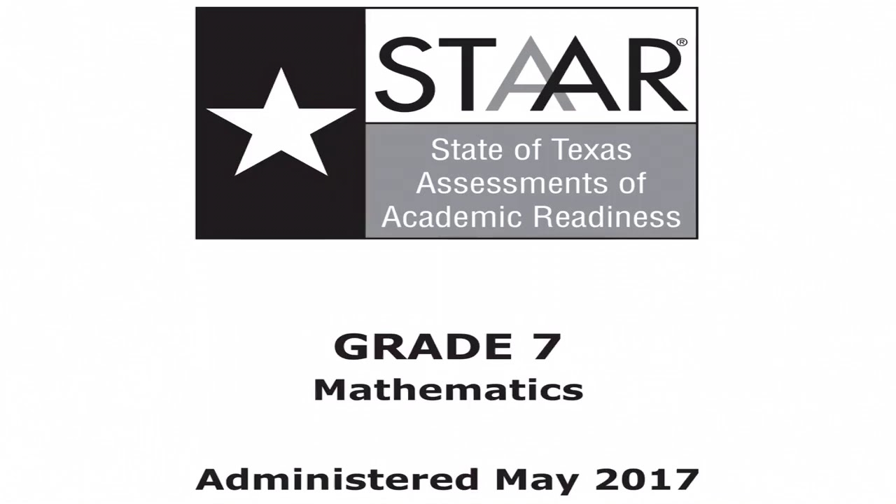 small resolution of 7th grade Math (STAAR Test 2017) #1-8 - YouTube