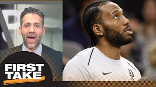 Max: Spurs should trade Kawhi Leonard and tank rest of season | First Take | ESPN