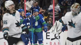 NHL Highlights | Sharks vs Canucks - Jan. 18, 2020