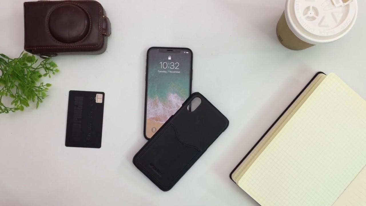 f3bf813b3 Melkco Best iPhone X Premium Handmade Leather Snap Back Case - YouTube