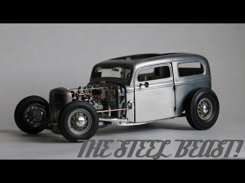 Steel beast - hotrod diecast model in 1:18 scale\handmade