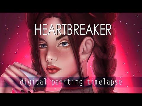 Heartbreaker (Valentines Day) | Digital Painting Timelapse