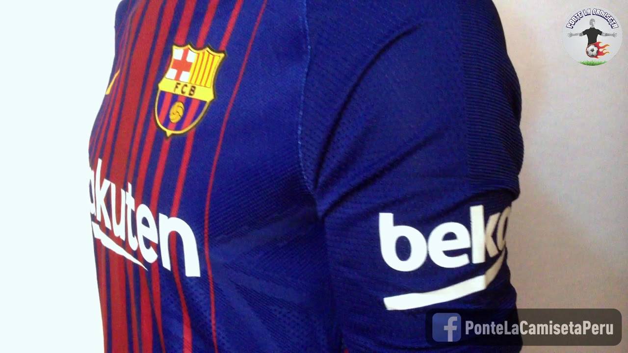 Frente Guerrero pala  Camiseta FC Barcelona Local 2017/2018 Nike Aeroswift - Ponte La Camiseta -  YouTube