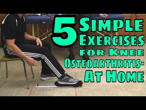 5 Simple Exercises For Knee Osteoarthritis- At Home