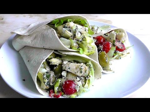 Vegetarian Wrap easy & delicious recipe - How to Make healthy Kebab