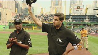 Pirates Honor Life-Saving Umpire During Pre-Game Ceremony
