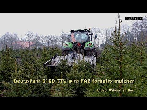 Deutz Fahr 6190 TTV With FAE Forestry Mulcher