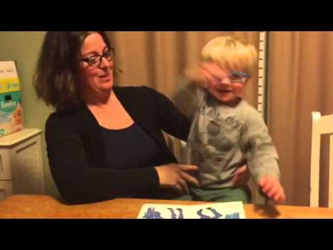 Deaf Toddler Learning To Read In ASL