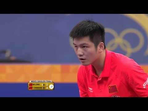 2016 Qatar Open MS Final   Ma Long vs Fan Zhendong 全體競技 백핸드 기술
