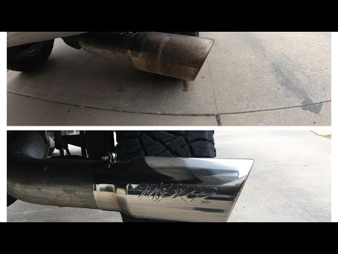How to clean up a Stainless Steel Tail pipe (polish)
