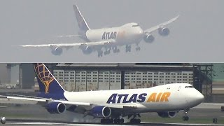 VOR 13L - Atlas Air Boeing 747-8F Landing at New York