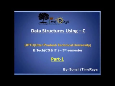 Data structures using C: Basic Terminology and Elementary Data Organization