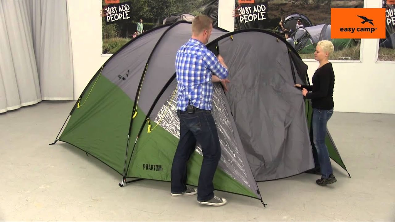 & Easy Camp Phantom 500 Tent Pitching Video (2014) - YouTube