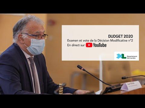 Diffusion en direct de l'Assemblée départementale des Landes du lundi 16 novembre 2020