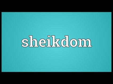 Header of sheikdom