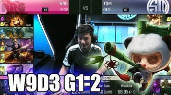 TSM vs NRG eSports | Game 2 S6 NA LCS Summer 2016 Week 9 Day 3 | TSM vs NRG G2 W9D3 1080p