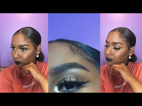 winged-liner-&-bold-black-lipstick- -koko-lashes-review-&-try-on